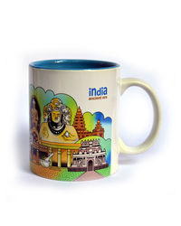 Indiavibes Coffee Tea Ancient Era Theme Printed Ceramic Mug, multicolor
