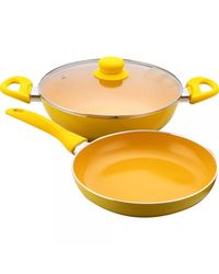 Wonderchef Da Vinci Set of 3Pcs (Induction Base),  yellow