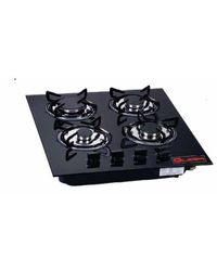 Quba 4 Burner Gas Built in Hob H14,  black