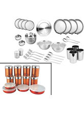Zain 41 Pcs Dinner Set + 12 Pcs Storage Set (Multicolor)