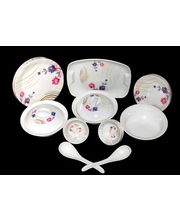 My Kitchen 32 Pcs Melamine Dinner Set LE-MYK-003, multicolor