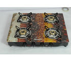 Advanta Premium Vetra Spice 4 Burner Glass top Gas Stove, multicolor