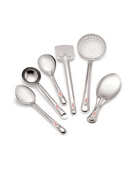 Roops Serving Spoon 6 pc Set,  silver