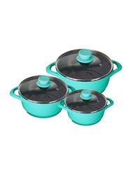 Wonderchef Ceramide Set of 6Pcs -Aqua Marine, aqua marine