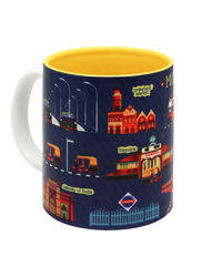 The Elephant Company Ceramic Mug Blue Mumbai Meri Jaan, blue