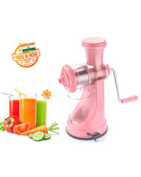 Eco Alpine Fruit & Vegetable Manual Juicer,  pink