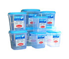 Chetan Set Of 9 Pc Plastic Kitchen Storage Airtight Containers, blue