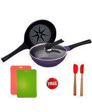 Wonderchef Diamond Coated Pans (Induction Base) By Chef Sanjeev Kapoor, Purple