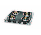 Padmini CS-4GT Four Burner Gas Stove (Black)