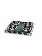 Padmini CS-4GT Four Burner Gas Stove (Silver)