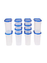 Gluman 12 Pcs Set Of Modular Kitchen Storage Container Box - Mod Blue ...
