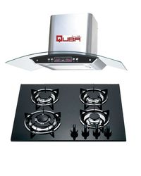 Quba Chimney 1115 With Quba 4 Burner Built in Hob H13, multicolor