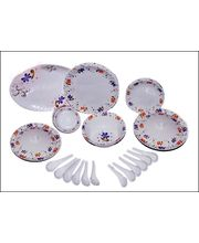 Oromax Melamine Dinner Set Of 44 Pcs LE-ORM-006, Multicolor