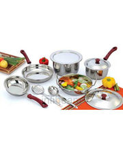 Praylady 10 Pcs Induction Base Cookware Set
