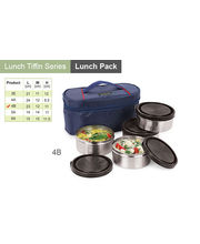 Sizzle Lunch Bag 4 Air Tight Container Set 4B, multicolor