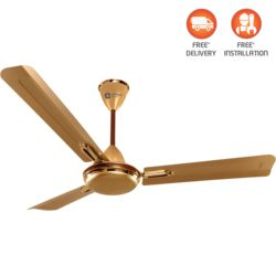 Orient Electric Quasar Ornamental 1400 mm,  golden chocolate