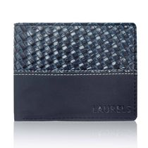 Laurels Navy Men's Wallet (Lw-Navy-0303),  blue