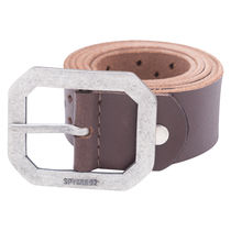 Leather Belt,  dark brown, xl