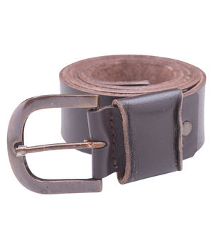 Leather Belt,  brown, xl