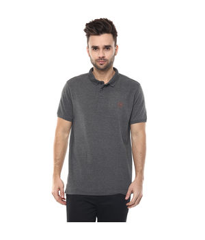 Solid Polo T-Shirt, s,  anthra