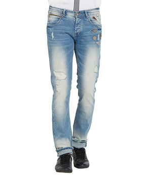 Low Rise Narrow Fit Jeans, 38,  light blue