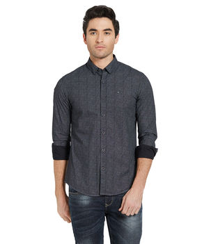 Printed Shirt In Slim Fit,  blue, s