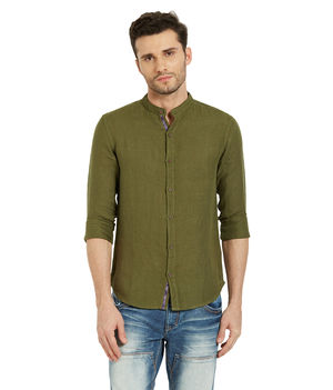 Solid Shirt In Slim Fit, s,  green