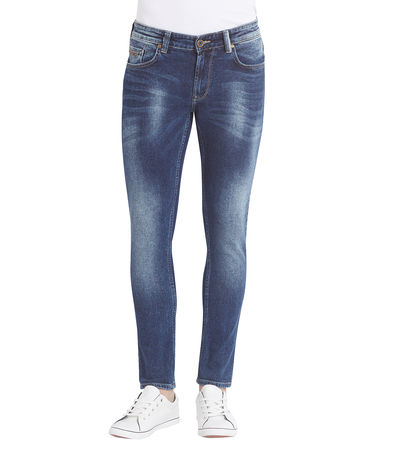 Low Rise Tight Fit Jeans, 32,  mid blue