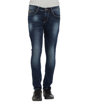 Ultra Slim Low Rise Tight Fit Jeans, 36,  dark blue