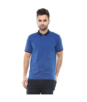 Graphic Polo Printed T-Shirt, s,  blue