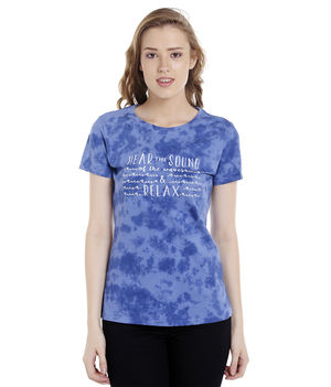 Tie & Die Round Neck T-Shirt,  blue, l
