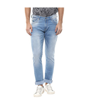Low Rise Tight Fit Jeans, 30,  light blue