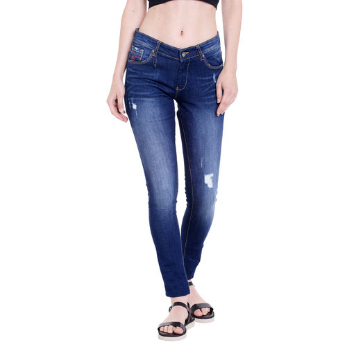 Low Rise Ultra Slim Fit Jeans,  mid blue, 34