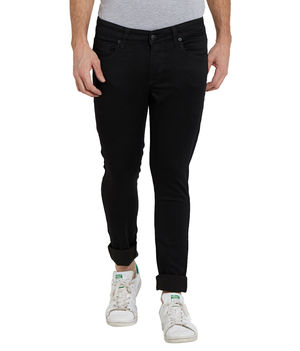 Low Rise Tight Fit Jeans,  black, 30