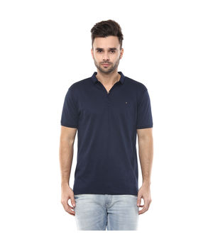 Solid Polo Slim Fit T-Shirt, s,  navy