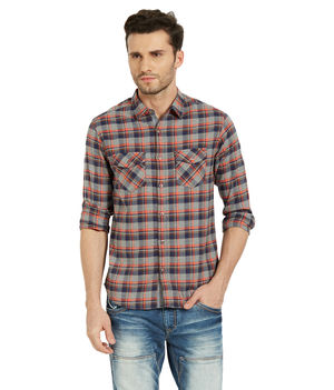 Checks Regular Slim Fit Shirt, xl,  pink