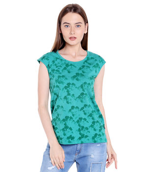 Tie & Die Round Neck T-Shirt,  green, s