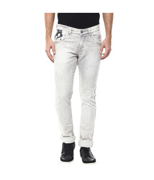 Low Rise Narrow Fit Jeans, 28,  ecru