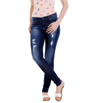 Low Rise Super Skinny Fit Jeans,  blue, 28