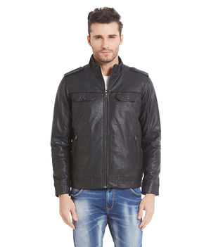 Solid Jacket In Relax Fit,  black, m