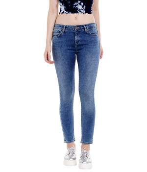 Mid Rise Skinny Fit Jeans,  blue, 36