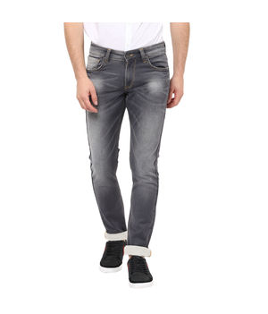 Skinny Low Rise Narrow Fit Jeans, 28,  grey