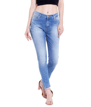 Mid Rise Skinny Fit Jeans,  blue, 28