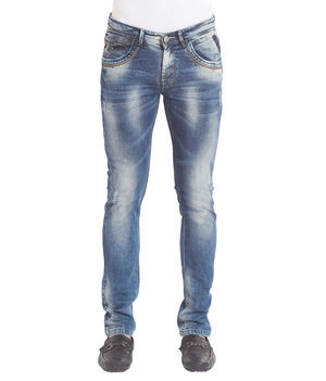 Low Rise Narrow Fit Jeans,  mid blue, 30