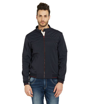 Solid Jacket In Relax Fit,  navy, s