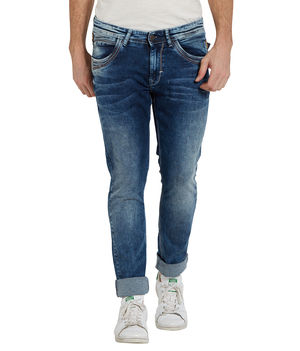 Low Rise Narrow Fit Jeans,  mid blue, 34
