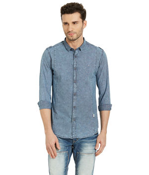 Checks Shirt In Slim Fit,  indigo, s