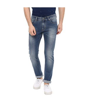 Rover Low Rise Narrow Fit Jeans, 28,  mid blue