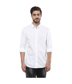 Solid Regular Shirt, s,  white