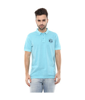 Solid Polo T-Shirt, s,  turquoise
